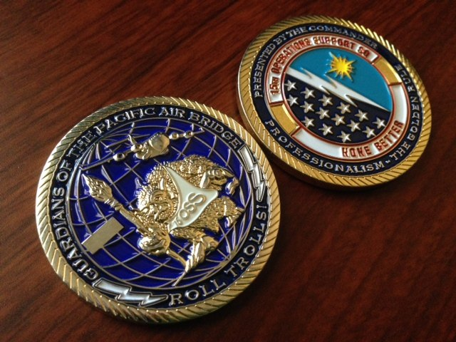 15th Operations Support Squadron Challenge Coin
